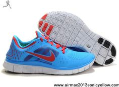 Buy Latest Listing Nike Free Run 3 Mens 510642-403 Blue Glow University Red Pro Platinum Casual shoes Shop