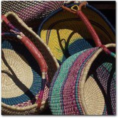 Trademark Fine Art Cheyenne Baskets Canvas Art by Pat Saunders-White, Size: 24 x 24, Red