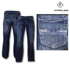 Fly Paper Ultra-Soft Premium 5-Pocket Straight Leg Jeans at 67% Savings off Retail!