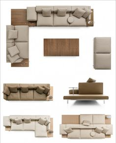 B&B Italia Introduces The New Dock Seating System By Piero Lissoni B&B Italia have introduced their new upholstered Dock sofa system, that's been designed by Piero Lissoni. Furniture Layout, Sofa Furniture, Furniture Plans, Furniture Design, Living Room Sofa Design, Living Room Designs, Living Room Top View, Modern Couch, L Shaped Sofa