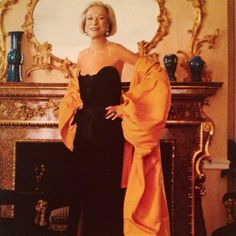 Nan Kempner wearing her all-time favorite dress. Mais bien sur, Yves Saint Laurent 1983