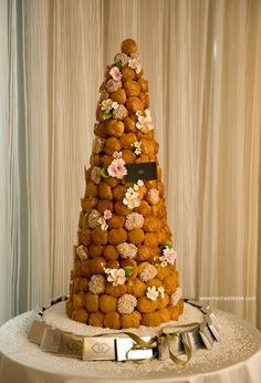 Here is one of my favorite wedding cakes the French Classic a Croquembouche.