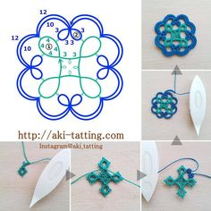 aki's tatting lace Browse through over high quality unique tattoo designs from the world's best tattoo artists! Tatting Earrings, Tatting Jewelry, Tatting Lace, Shuttle Tatting Patterns, Needle Tatting Patterns, Needle Tatting Tutorial, Thread Art, Beaded Animals, Bijoux Diy