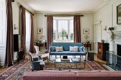 Drawing Room - A painstakingly restored Georgian house nestled in a Somerset valley. The house deservedly won a Georgian Group award in 2015.