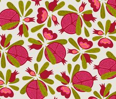 pomegranates fabric by fattcheese on Spoonflower - custom fabric