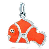 #jewelry #charm #Thomassabo #jewellery #accessories #sterlingsilver #nemo Pugster 925 Sterling Silver Cute Dark Clown Fish Clasp Charm Pendant $22.49 on sale