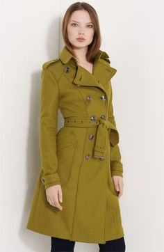 Burberry London Double Breasted Wool Trench - perfect coat for before the temp really drops, and a color to die for!