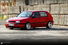Red VW Golf MK3 - 2nd Car - 'Mohammed' - loved him too...