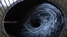 """A Perpetual Whirlpool of Black Water Installed in a Gallery Floor by Anish Kapoor. """"If one is talking about sculpture then scale and skin (or form) is everything. Anish Kapoor, Internet Art, Colossal Art, Plastic Art, Black Water, Light Art, Kochi, Installation Art, Design Art"""