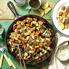 Equally at home on your stove or over a campfire, this fragrant skillet breakfast pulls double duty for dinner with a green salad. Try...