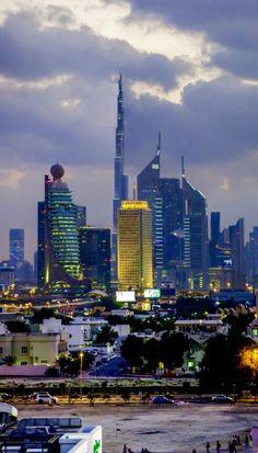 Looking at Sheik Zayad Road, Dubai