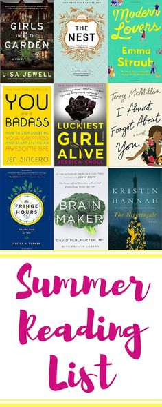 Looking for a good summer read? Here's a list of great summer books, including some new and notable authors! Get your beach read on!