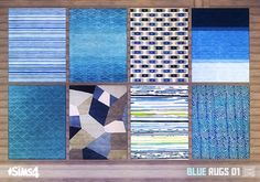 Oh My Sims 4 - Blue rugs