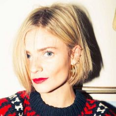 """The Cut: The """"If Margot Tenenbaum joined a rock band"""" bob    This look is best for finer hair, but isn't impossible if you have hair that is on the thick side — you just have to invest a bit more styling time into it. Ask your stylist to chop through the ends to shape the cut, keeping your texture in mind, to create that A-line shape — but keep the ends blunt."""