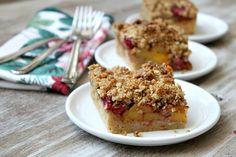Peach and Raspberry Pie Bars