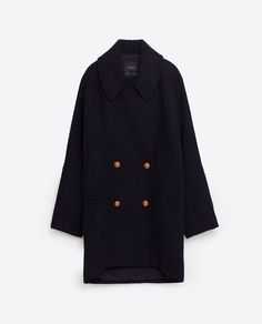 Image 11 of DOUBLE BREASTED WOOL COAT from Zara