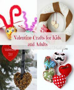 DIY Valentine Crafts To Do With Your Kids via @frazzlednfrugal