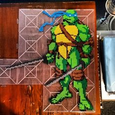 TMNT Leonardo perler beads by the_collector_couple
