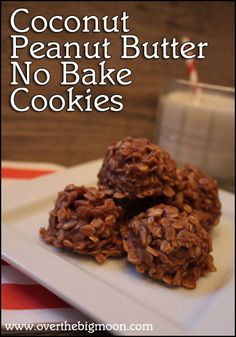 Coconut Peanut Butter No Bake Cookies