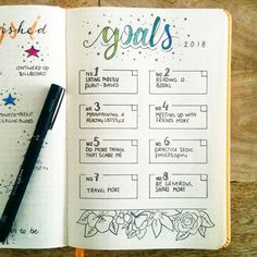 bullet journal goals layout tracker | bullet journal page ideas inspiration | organize your life | How to start a bullet journal monthly spread | bujo journal doodles | bullet journal planner organization tips