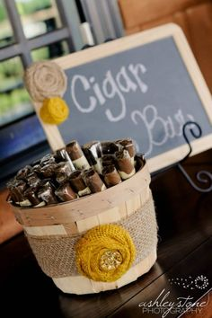 Jess - I'd love some cigars for my bday, and this might be an idea for our wedding... But obviously an extra expense