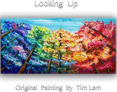 Geschilderd door Tim Lam... Tim is een internationaal gerenommeerde kunstenaar uit Hong Kong, die een ontwerper, grote beeldende kunst (BA, Hon was) op de Universiteit. Later een voltijd kunstenares, heeft verkocht duizenden illustraties wereldwijd.  Dit is een origineel schilderij, one-of-a-kind, 100% hand geschilderd op doek, bekleed met een laag van halve glanzende vernis. Dikke verf, gratis lijnvoering, expressionistische impasto style, delicate kleurtonen, creëren van een diepe…