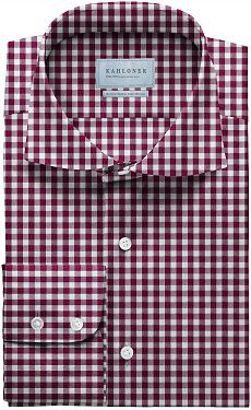 Raspberry Gingham Check Premium Egyptian Cotton Shirt