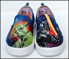 e841d60d310 Star Wars Shoes Star Wars Sneakers Painted Star Wars by PricklyPaw