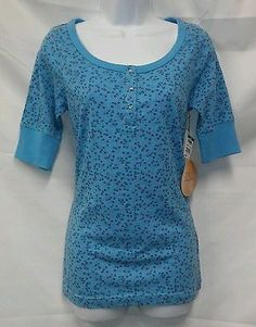 Aura by Wrangler NWT Multi-Color Floral Short Sleeve Cotton Top Size M