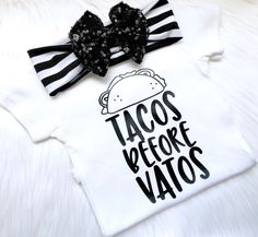 Cinco De Mayo outfit, taco tuesday shirt, Cinco De mayo Shirt, im just here for the tacos, taco bout cute, newborn outfit, taco life, baby by PerfectlyPINKBow on Etsy https://www.etsy.com/listing/589932310/cinco-de-mayo-outfit-taco-tuesday-shirt