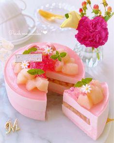 Cute Desserts, Chocolate Desserts, Fancy Cakes, Cute Cakes, Hawaii Cake, Cake Recipes, Dessert Recipes, Pastel Cakes, Kawaii Dessert