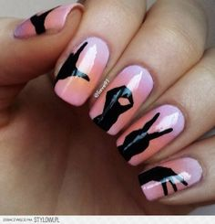 Love in sign language nail art, this is AMAZING!