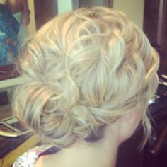 Perfect wedding hair - this woman's work is fabulous!
