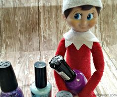 Cute one!  Paint one or two nails while they're sleeping - and set the elf up with nailpolish :)