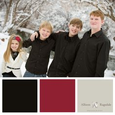 Red and Black Family Portrait Color Palettes, Interior Design, Family Photographs By Allison Ragsdale Photography Christmas Pictures Outfits, Family Christmas Pictures, Family Pictures, Family Picture Colors, Family Picture Outfits, Momma Bear, Portrait Ideas, Maternity Pictures, Photo Colour