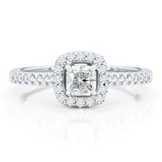 Diamond Masterpiece 5/8ct TW Engagement Ring in 18K Gold available at #HelzbergDiamonds