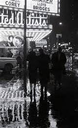 Rainy night, Randolph St , 1962, Chicago. Lee Balterman
