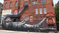 Animals in Street Art. Depiction of animals in worlwide Graffiti and street art. Animals in Street Art: Art Works, Photo Art, Street Painting, Public Art, Animal Mural, Amazing Street Art, Sidewalk Art, Graffiti Art, Outdoor Art