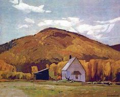 """The Group of Seven - School House at Halfway Lake"". Alfred Joseph Casson (1898 - 1992), Canadian painter."