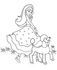 Barbie Coloring Pages Printable To Download Freecoloring Pagesorg