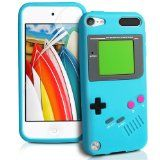 Londonmagicstore® Gadgets LightBlue Gameboy Style Silicone Skin Case Cover Shell for Apple iPod Touch 5 + Screen Protection Kit - Loveeeeee