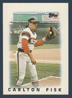 Carlton Fisk # 11 - 1986 Topps Mini Leaders Baseball