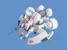 Abunai v2.1 - Fighter Drone by Fredoichi, via Flickr