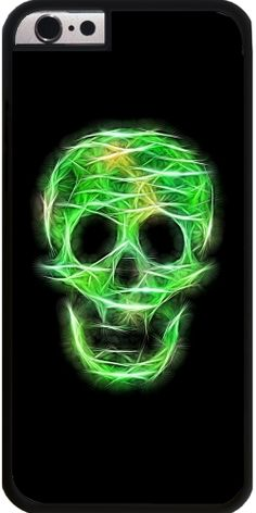 GrabYourDesign - Case for Iphone 6/6S Green sparkling Skull - by UtArt  #iphone #android #toughcase #slimcase #powercase #Society6 #iphonecase #phonecase #iphone6s #iphonecase  #girly #betterhome #utart  #sparkles #she  #pastel #pretty  #girlscase #gold #glitter #chevron #design #girls #woman #skullart