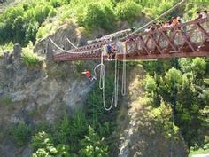 """BUNGEE SAILING - Kevin Schmoyer indulged his wife Donna with a sailing trip because it was on her bucket list. They have also bungee-jumped, as has their friend Ted Vigeant. Ted regaled us with his death-defying jump hundreds of feet off the original bungee bridge in Queenstown, New Zealand. """"They asked if I wanted to touch the water, splash in the water, or stop short of it,"""" he said with some amazement. """"They can dial it in that closely."""""""