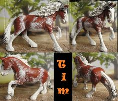 Schleich 2013 shire stallion customized and repainted