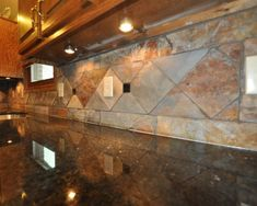 slate backsplash tiles for kitchen |  blog: rustic indian