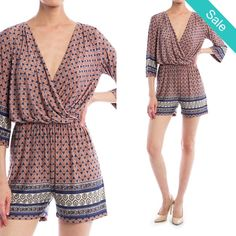 Vintage Romper - Adorable sassy, comfy and fresh Romper. Sassy Short Vintage Romper! - On Sale for $32.00 (was $39.00)