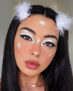 Makeup Eye Looks, Eye Makeup Art, Pretty Makeup, Makeup Eyeshadow, Easy Eyeshadow, 80s Makeup, Applying Eyeshadow, Natural Eyeshadow, White Eye Makeup