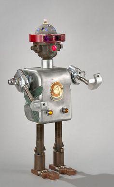 Robot Sculptures Made from Vintage Scrap Metal